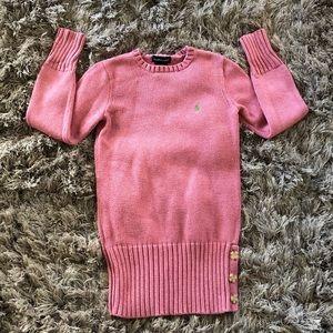 Ralph Lauren Pink Sweater 100% Cotton  Size 8/10